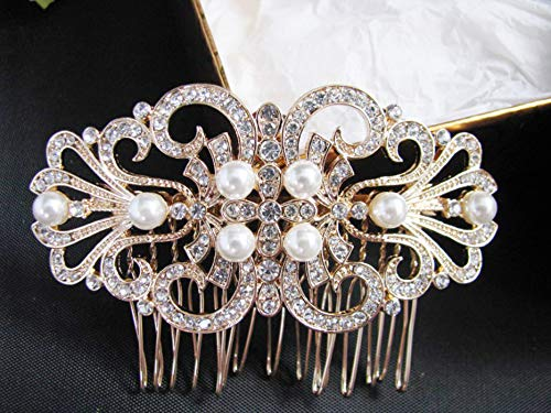 EleganceWithFlair Bride Wedding Hair Comb Rhinestone Max 51% shopping OFF Girls Brida