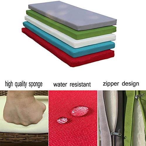 HANHAN - Cojín rectangular antideslizante para silla de jardín, patio, balcón, columpios de banco, cojines de 2/3 plazas, esponja gruesa para entrada, banco de zapatos