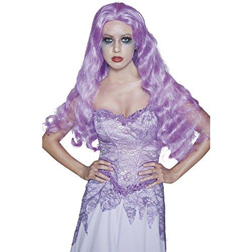 Smiffys dames gothic bruid pruik, één maat, lila, 34208