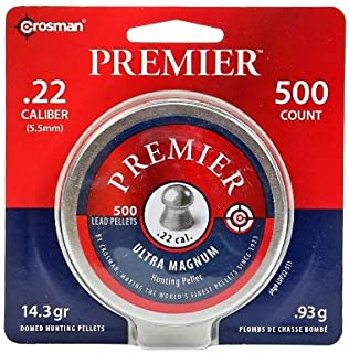 Crosman Premier Domed 500 pellets in a tin. LDP22