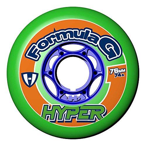 Hyper Rollen für Inlineskates Formula G Era, Neongrün/Blau, 76, 72400