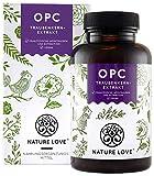 NATURE LOVE OPC Traubenkernextrakt - Premium: aus Original französischen Trauben UND Extraktion in Frankreich - 800mg Extrakt je Tagesdosis -...