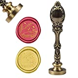 CRASPIRE Wax Seal Stamp Fox Vintage Wax Sealing Stamps Animal Retro Retro 25mm Stamp Removable Brass Head Peacock Alloy Handle for Wedding Invitations Embellishment Bottle Decoration Gift Packing