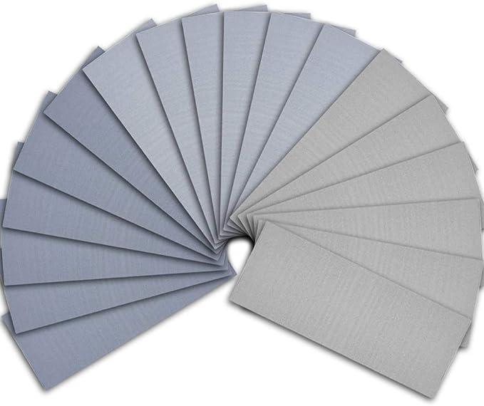 1004 opinioni per SIQUK 18 pezzi Carta vetrata umida e asciutta Assortimento 3000 5000 7000 Carta