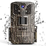 WiMiUS Wildlife Camera 16MP 1080P HD Trail Camera Night Vision Detection Motion Activated