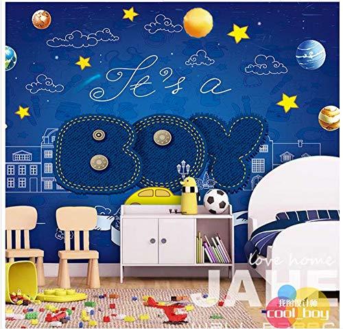 ZAMLE Benutzerdefinierte 3D-Fototapete Für Wände 3 D Wandbilder Junge Kinder Zimmer Wandbild Hd Handgemalte Wand Im Hintergrund Wohnkultur, 150X105 Cm (59.1 X 41,3 In)