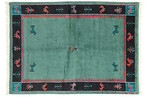 Teppichprinz Gabbeh 253x186cm Orientteppich Handgeknüpft Indien Carpet Rug
