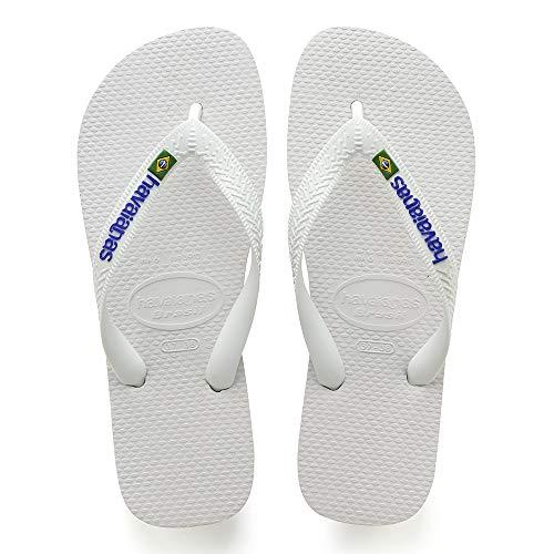 Havaianas Brasil Logo, Unisex-Erwachsene Zehentrenner, Weiß (White), 35/36 EU
