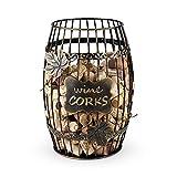True Display Wine Kitchen, Barrel Cage Holder Collector Decorative Vino Cork Storage Box Container Gift, Set of 1, Brown