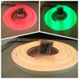 Vasten 24V RGB NEON Rope Light, Flexible RGB Neon Light Strip, Waterproof, Multi Color Changing 5050 SMD LED Rope Light + Remote Controller for Home Decoration (5M/16.4ft)