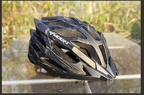Reithelm Mountainbike Helm Fahrausrüstung leichter einteiliger Outdoor-Reithelm männlich-Cracked gelber M-Code