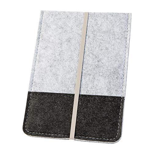 luxdag Schutzhülle aus Filz für Amazon Kindle Paperwhite 6 Zoll (Farbe & Motiv wählbar) - eBook Hülle mit Gummiband - Cover Case für Kindle - eReader Filztasche