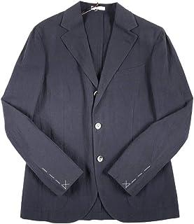 [48] [BOGLIOLI] ボリオリ ジャケット メンズ 春夏 ネイビー 紺 リネン混 X2902E [13743] [並行輸入品]
