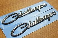 Dodge Challengerフェンダーネームプレートエンブレムバッジのセット2Mopar Oem