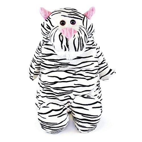 Niños–Suave Acolchado de forro polar cubierta ascensor botella diseño de tigre blanco
