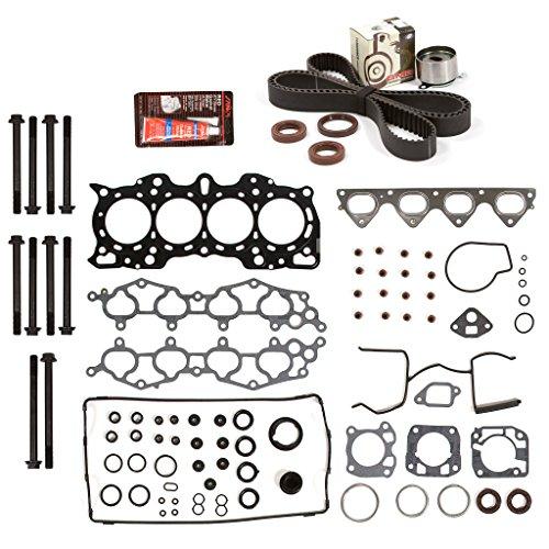 Evergreen HSHBTBK4011 Head Gasket Set Head Bolts Timing Belt Kit 90-01 Acura Integra 1.8 B18A1 B18B1