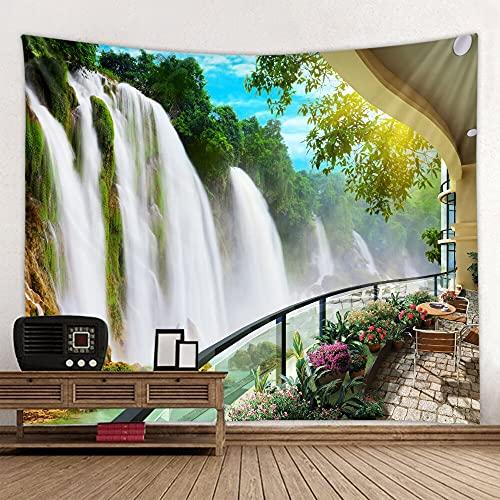 KHKJ Fondo de Tela Colgante psicodélico Revestimiento de Pared decoración del hogar Manta de Pared Tapiz Dormitorio Colgante de Pared A4 200x180 cm