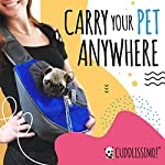 Cuddlissimo! Pet Sling Carrier - Small Dog Puppy Cat Carrying Bag Purse Pouch - For Pooch Doggy Doggie Yorkie Chihuahua Baby Papoose Bjorn - Travel Front Backpack Chest Body Holder Pack To Wear (Blue) 11