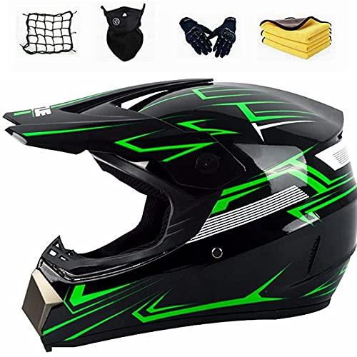 Casco da motocross casco da moto per bambini casco integrale da bici per adolescenti e adulti casco integrale staccabile casco da discesa per bambini con omologazione D.O.T (C)