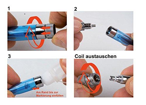 Nox24 2x Atomizer für E Zigaretten-DUAL Clearomizer BCC mit enormer Dampfentwicklung - Inkl. 2 extra Coils - EGO/EVOD (Transparent)