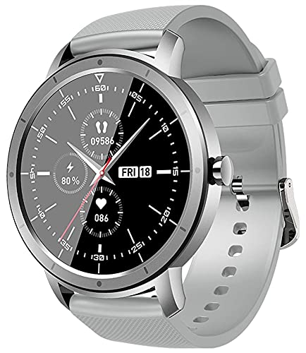 QHG Salud Inteligente Reloj Hombres Mujeres Bluetooth Call Music Control Relojes Deportes Fitness Tracker Tasa de corazón Sleep Monitor Daily Activity Tracker (Color : Gray)