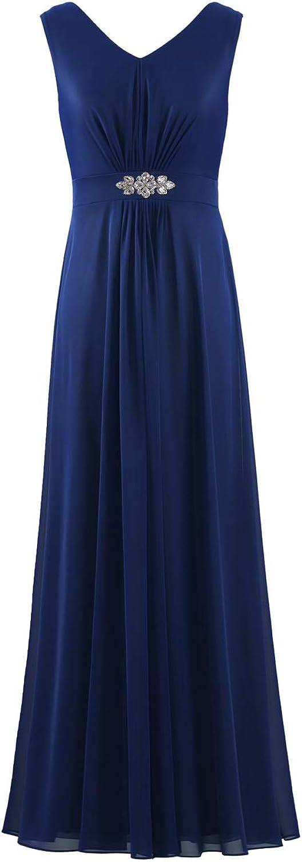 ZAXANTS Women's Sleeveless Evening Dresses Long Junior Gown