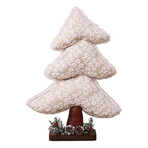 Junluck Pañuelo de Navidad, decoración de árbol de Navidad, decoración de ventanas, juguetes de peluche 21697.