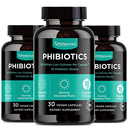 Probiotics High Potency 10 Strains – 30 Billion CFU – (Pack of 3) [30 Time-Release Capsules] Digestive Health Supplement – Lactobacillus Acidophilus Bifidobacterium Shelf-Stable Flora Immune Support