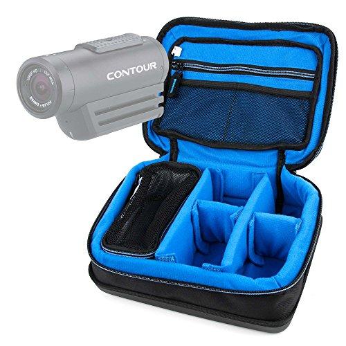 DURAGADGET Bolsa Acolchada Profesional Negra con Compartimentos para Videocámara Besteker FHD 1080   Z18   Z80   F5   Y-CAM EVO   DxO One   Vixen Polarie Star Tracker