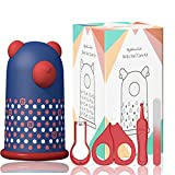 Tijeras para Uñas De Bebés, HyAdierTech Kit de manicura y pedicura, Set de manicura para bebés con Cortauñas, tijeras, pinzas y limas de uñas, cómoda y portátil para niños recién nacidos bebés (azul)