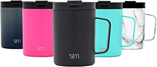 Simple Modern 12oz Scout Coffee Mug Tumbler - Travel Cup for Men & Women Vacuum Insulated Camping Tea Flask with Lid 18/8 Stainless Steel Hydro - Midnight Black