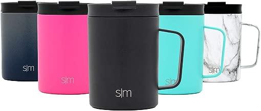 Simple Modern Scout 350 mL Termo Taza de Café - Vaso Termico de Viaje Termica para Llevar Acero Inoxidable Botella de Agua -Medianoche Negro