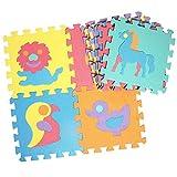 10 Stücke Puzzle Spielteppich baby Puzzle-Matte Schaumstoffmatte Nummer Frucht Fahrzeug Tiermuster Teppich Teppich Split Joint EVA baby Spielmatte Innen Weiche aktivität Puzzle Matten
