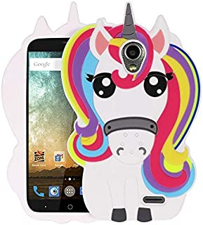Yonocosta 3D Cute Cartoon case ZTE Maven 2 Case, Prestige N9132 Case, Sonata 3 Case, Avid Plus Case, Avid Trio Case, 3D Cute Cartoon Rainbow Unicorn Silicone Case Cover for Z831 2016 Release (Unicorn)