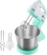 BINZHI Eggbeater Electric Household Desktop Automatic Eggbeater With Barrel Cream Machine Baking Dough Mixer - Blue Kitchen gadget