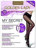 GOLDEN LADY My Secret 40 3P Collant, 40 DEN, Trasparente (Melon 001A), Small (Taglia Produttore:2 – S) (Pacco da 3) Donna