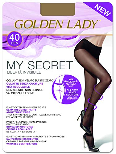 Goldenlady Damen My Secret 40 3p Halterlose Strümpfe, 40 DEN, Transparent (Melon 001a), X-Large (Herstellergröße: 5 – XL) (3er Pack)