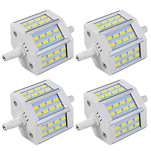 MENGS® 4 Stück R7s-J78 78mm LED Lampe 6.5W AC 85-265V Warmweiß 3000K 24x5730 SMD Mit Aluminuium Mantel