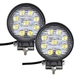 Bang4buck 4 Pack Super Bright 27W Spot LED Light 5 inch Round Fog Lamp Driving Light EPISTAR Beam for Truck Car ATV SUV Jeep Boat 4WD