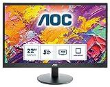 AOC Monitor E2270SWN - 22' Full HD, 60 Hz, TN, VESA, 1920x1080, 200 cd/m, D-SUB