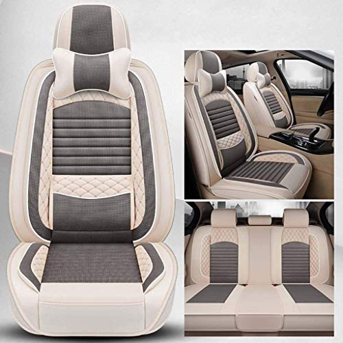 N\A LUCK Car Seat Cover Car Seat Cover Four Seasons Universal Compatible With Citroen C6, C5, C3-XR, C4L, C2, Tianyi C5 AIRCROSS 5-seat Cars All-Inclusive Seat Cover Car Mat, Airbag Compatible