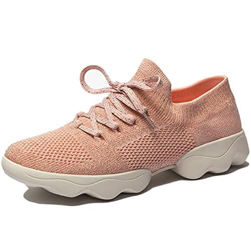 Mujer Zapatos de Baile Zapatillas de Baile Modernos Zapatos Deportivos Gym Cómodas y Transpirables Rosado 42