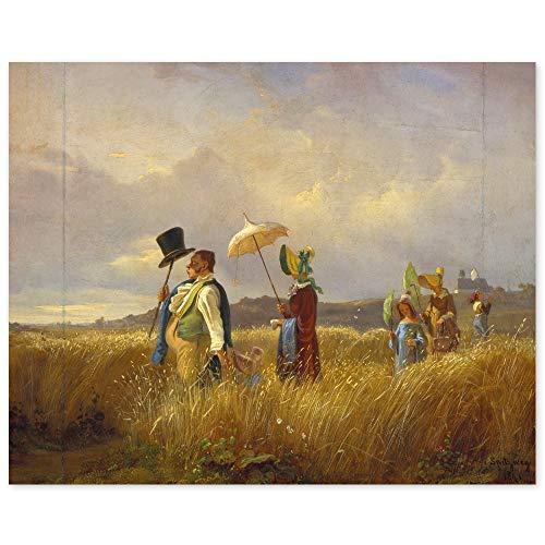 JUNIWORDS Poster, Franz Carl Spitzweg, Der Sonntagsspaziergang, 49 x 40 cm