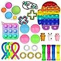 Nokiwiqis Fidget Toy Packs, Set De Juguetes Sensoriales Fidget Baratos con Simple Dimple Pop Bubble Infinite Cube Stress Ball y Anti Stress Relief Toy Stress Ball (27 AM) de