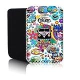 Funda retro Autocaravana (Blanco) PPW cubierta para Amazon Kindle 4 y 5 (2012, 2013 & 2014) , tablet, funda de neopreno protectora resistente al agua y golpes, envío rápido, UK