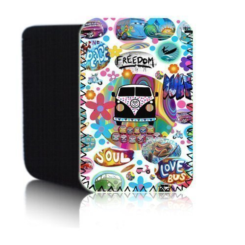 Funda retro Autocaravana (Blanco) PPW cubierta para Amazon Kindle 4 y 5...