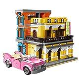 LINANNAN Architecture Building Blocks Model, 650pcs Mojito Cafe City House Street View Townhouse Tienda de Juguetes Set de Edificio Modular Compatible con Lego
