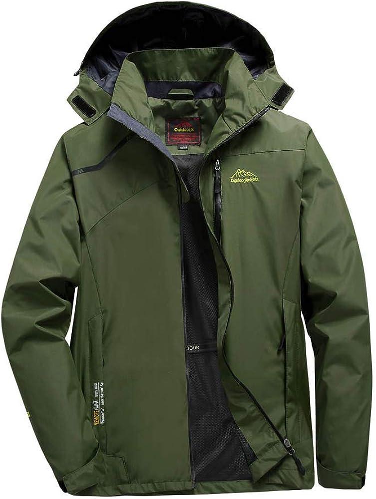 NIUQI Men's Sport Outdoor Outerwear Pocket Hoodie Zipper Assault Coat Jacket