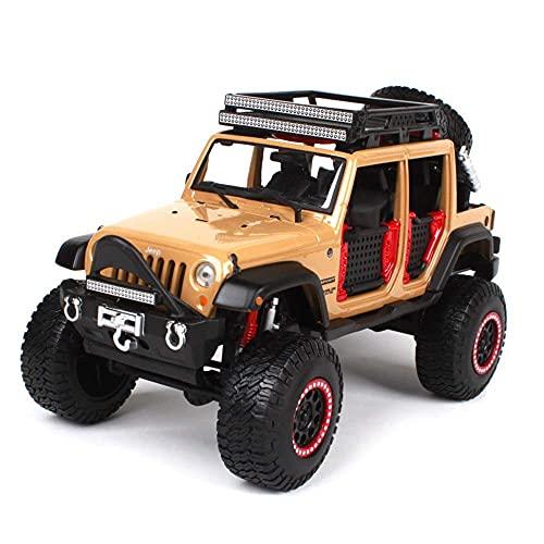 YLJJ 1:24 Jeep Wrangler versión modificada del Modelo de Coche de aleación de simulación, Modelo de vehículo Todoterreno, Rueda Que Puede Girar, Modelo estático, colección de Coches