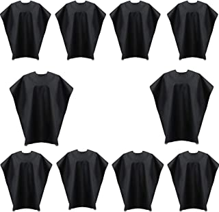 Bqueen Professional Hair Salon Nylon Barber Cape Hair Cutting Gown Barber Hairdressing Cape Waterproof Hairdresser Salon Cape for Children Adult (10 Pack)